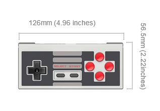 NES30 controller dimensions
