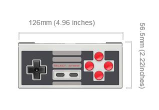 NES30 controller afmetingen