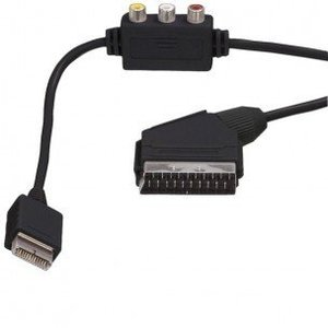 Dolphix Scartkabel mit Cinch-Composite für PS1 / PS2 / PS3 1.8m