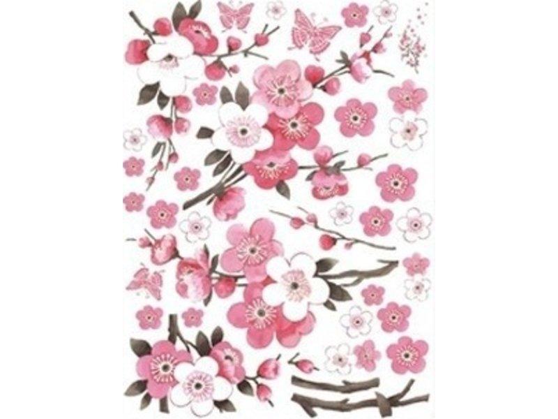 Muursticker roze bloesem