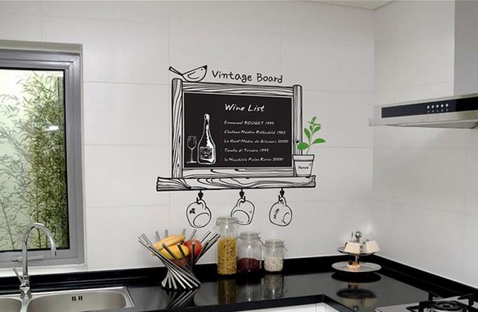 Krijtbordsticker vintage keuken versierendoejezo! webwinkel