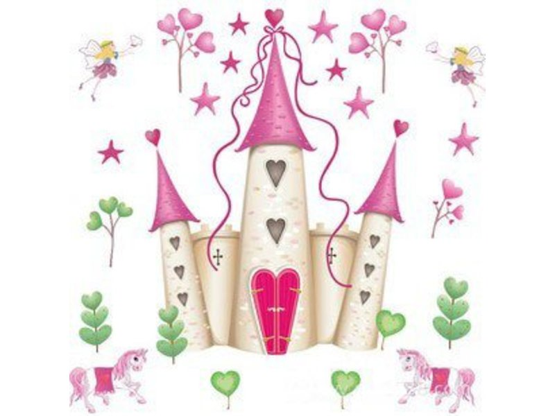 Muursticker prinses kasteel