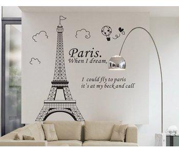 Muursticker Parijs
