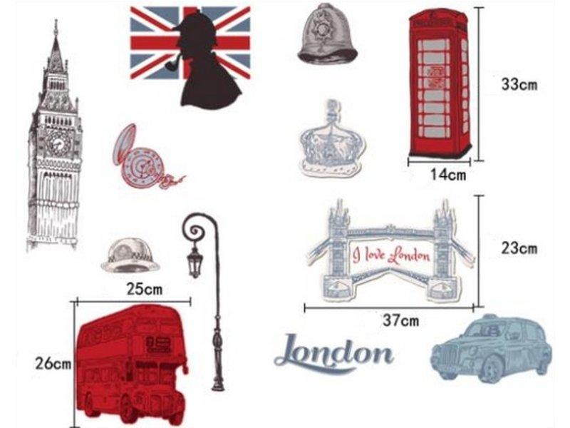 Muursticker Londen