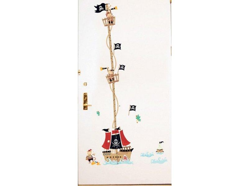 Muursticker Piratenschip