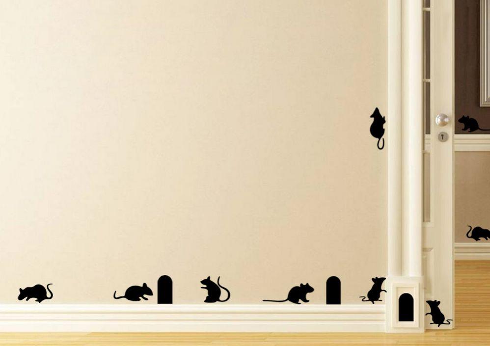 Muursticker muizenplaag versierendoejezo! webwinkel & workshops