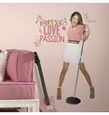 Disney Violetta groot staand Sticker Music, Love & Passion