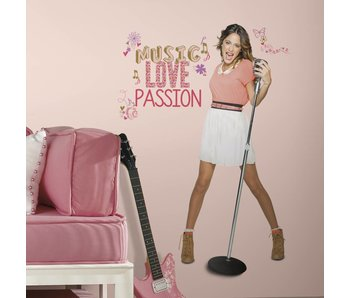 Disney Violetta groot staand Sticker Music, Love & Passion