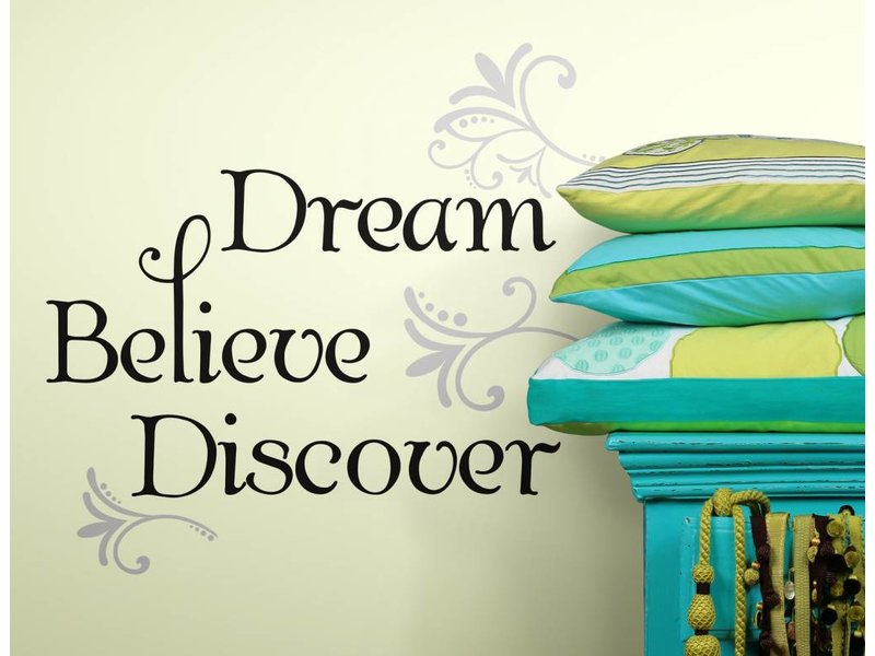 Dream Believe Discover tekststicker