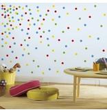 Gekleurde stippen muursticker