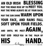 Irish blessing op maat (115cm x 130cm)