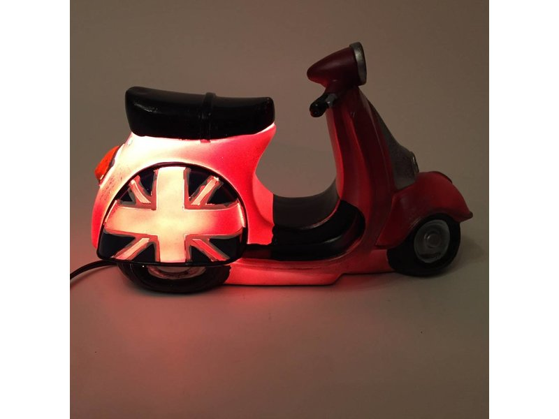 Clayre & Eef Engelse scooter lamp