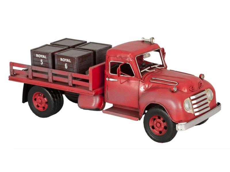 Clayre & Eef Metalen grote transport auto