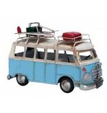 Clayre & Eef Metalen surfbus licht blauw