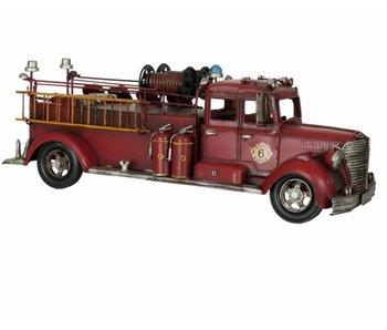 Clayre & Eef Metalen grote brandweerauto