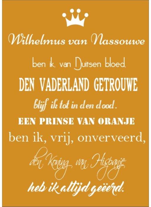 Tekstbord Wilhelmus