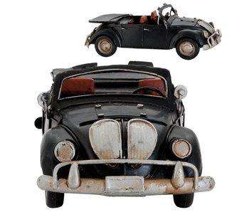 Clayre & Eef Metalen zwarte kever cabrio