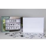 Cottonballslight Licht letterbox groot Ledr