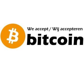 Accepteer bitcoin sticker (3x)