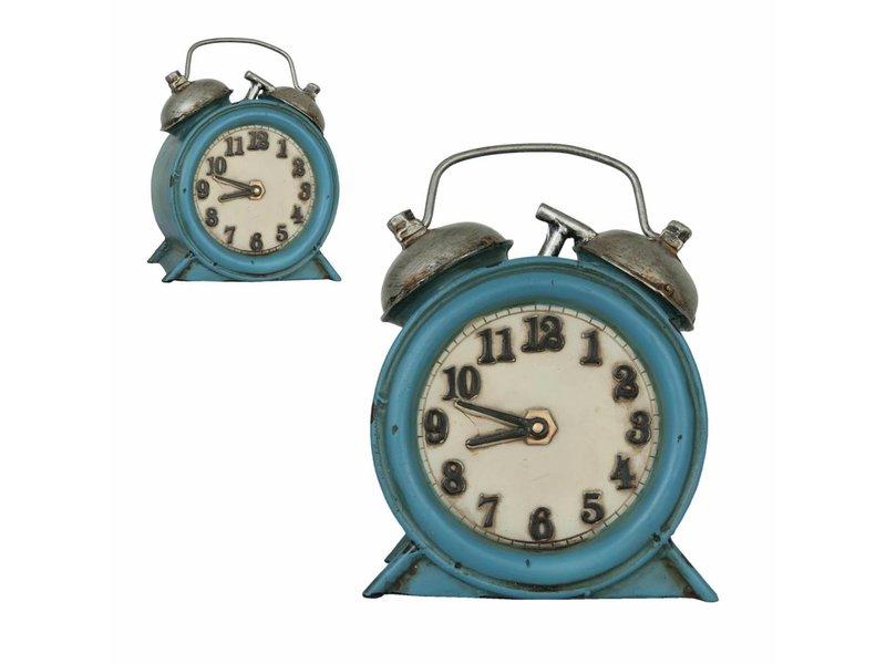 Clayre & Eef Blauwe wekker lamp
