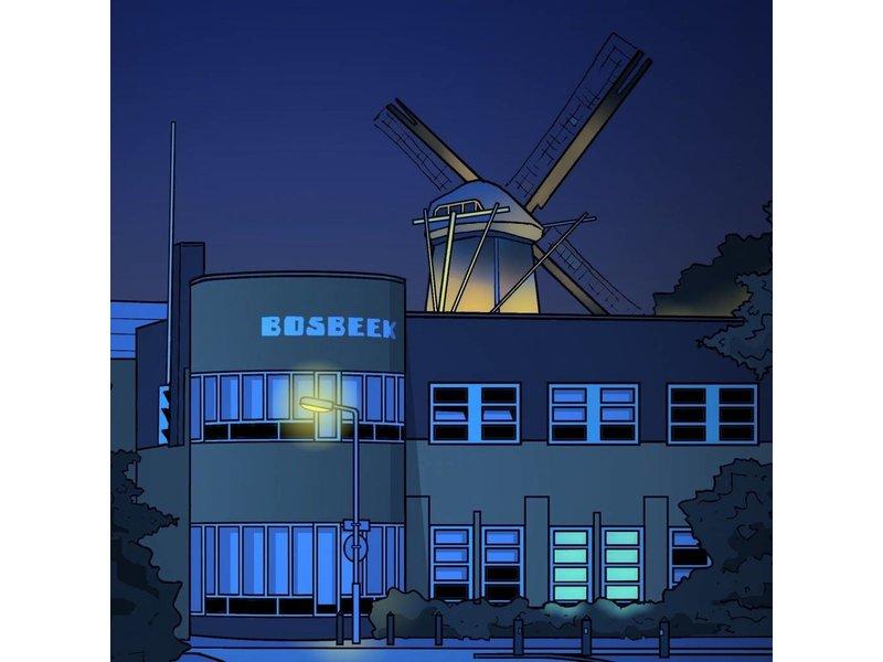 Klok Santpoort Boskbeekschool nacht Eric J. Coolen