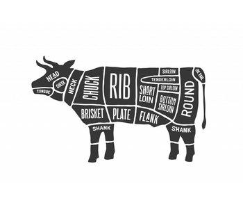 Sticker cuts of beef Slager koe