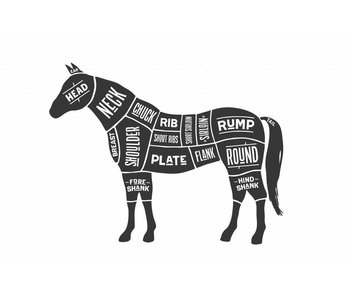 Sticker cuts of horse Slager paard