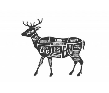 Sticker cuts of venison Slager hert