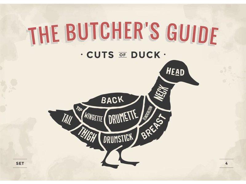 Set butcher cuts stickers (12x)