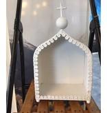 Kerststal witte kapel
