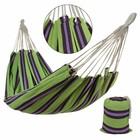 paars-groen gestreepte hangmat