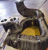 Heat Shieldings Titanium basaltvezel Uitlaatband  5cm x 15m tot 800 °C