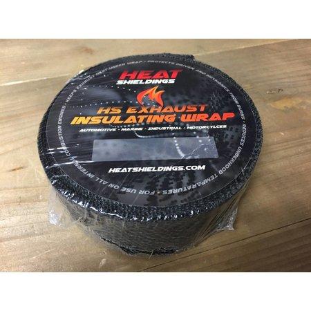 Heat Shieldings Zwart 5cm x 30m Uitlaatband tot 600 °C