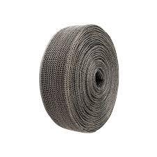 DEI  Uitlaatband met RVS mantel 3,8cm x 3m zwart