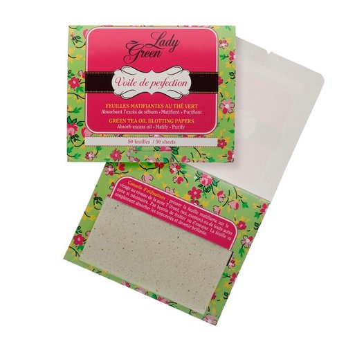 Lady Green Green Tea Oil Blotting Papers 50st.