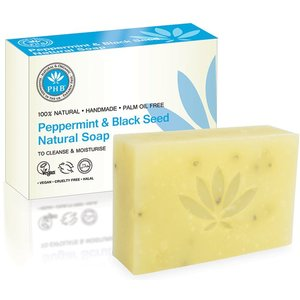 PHB Ethical Beauty Peppermint & Black Seed Natural Soap 100g