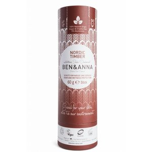 BEN&ANNA Deodorant Stick Papertube Nordic Timber 60g