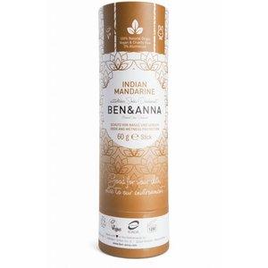BEN&ANNA Deodorant Stick Papertube Indian Mandarine 60g