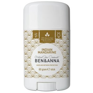 BEN&ANNA Natural Soda Deodorant Stick Indian Mandarine 60g