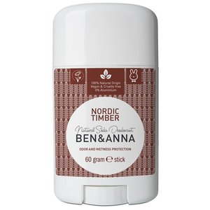 BEN&ANNA Natural Soda Deodorant Stick Nordic Timber 60g