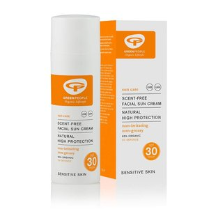 Green People Scent-Free Facial Sun Cream SPF30 50ml