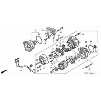 honda st1300 wiring diagram st1300 engine diagram st1300 pan european generator oem part - hans motor parts ... #2