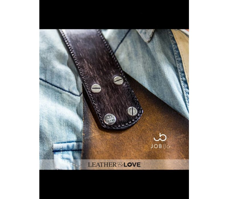 Leren BBQ schort | Kookschort | Werkschort | Cognac