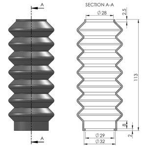 Flevobike Folding bellows for Flevobike Orca strut