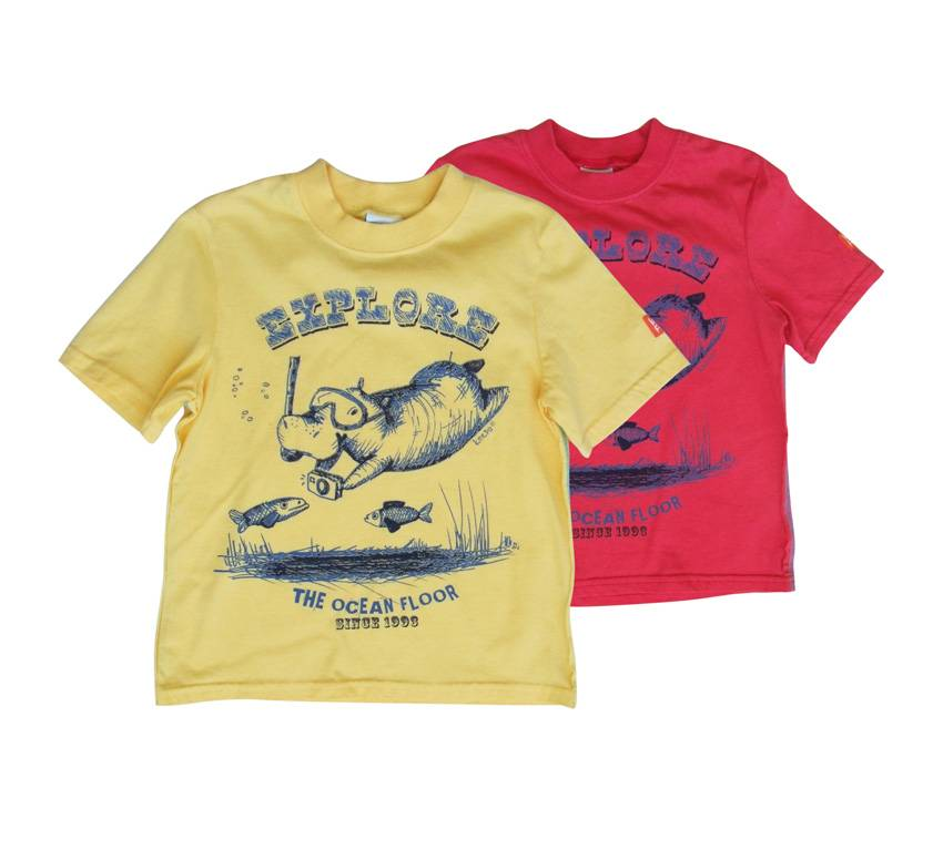 keedo diving hippo t shirt boys red. Black Bedroom Furniture Sets. Home Design Ideas