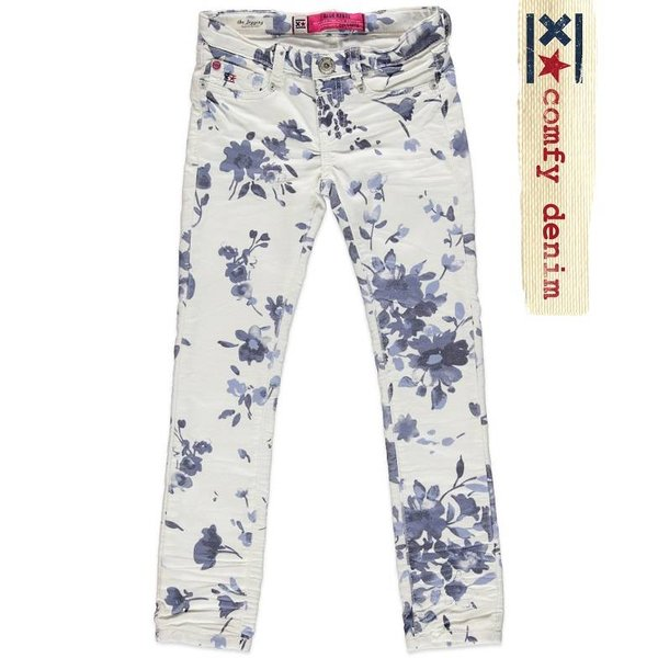 Mädchen Jeans Calciet Super Skinny Tie Dyed