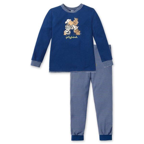 Jungen Schlafanzug lang blau