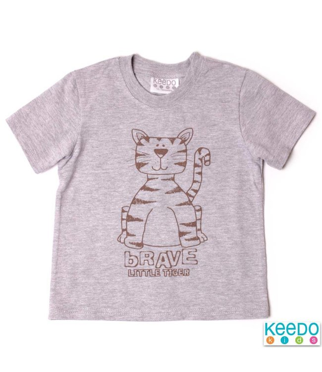 Keedo Baby T-Shirt Animal grey melange