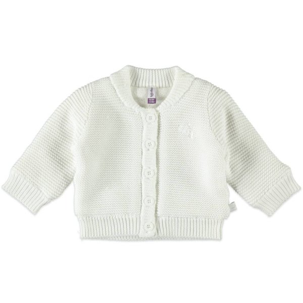 Baby Strickjacke mit Futter soft white