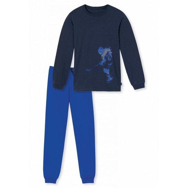 Jungen Schlafanzug lang nachtblau